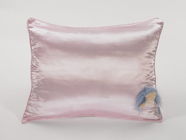 Pink Satin Pillowcase for Girls with Harriet Doll