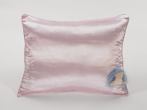 Pink Satin Pillowcase for Kids - IMPORTED