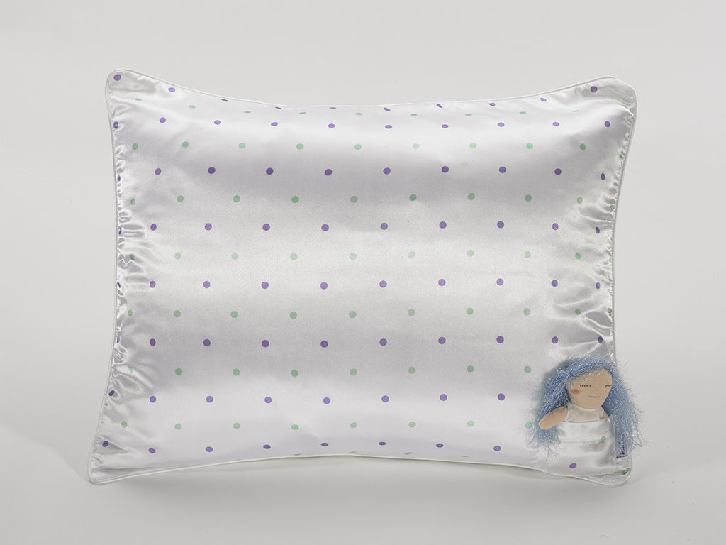 Polka Dot Satin Pillowcase with Doll for Girls