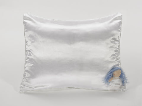 Cloud White Satin Pillowcase for Kids