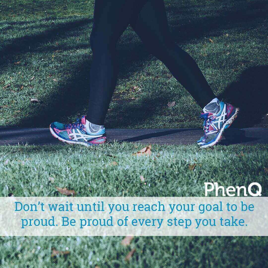 Weight loss tips - Don't wait until you reach your goal to be proud. Be proud of every step you take.