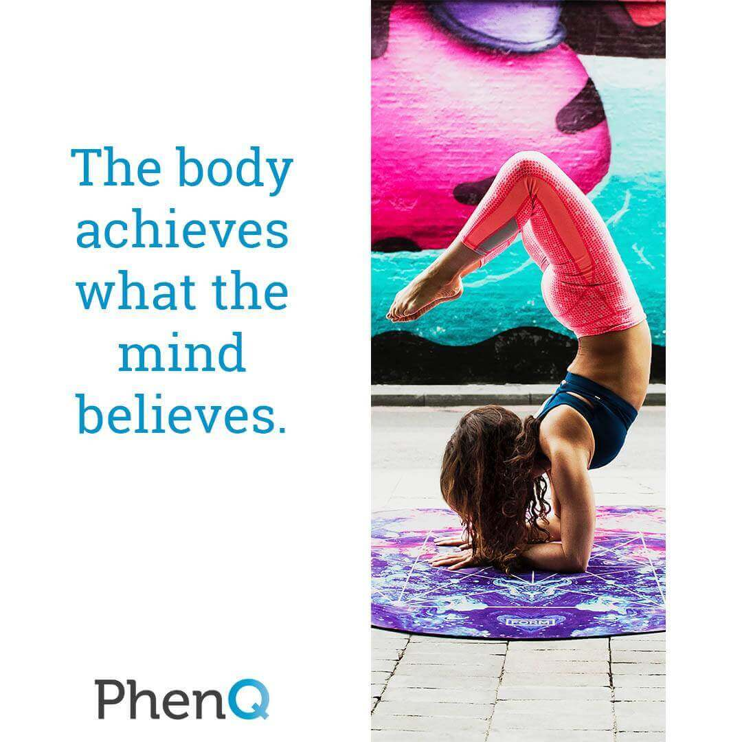 Weight loss quote - The body achieves what the mind believes.