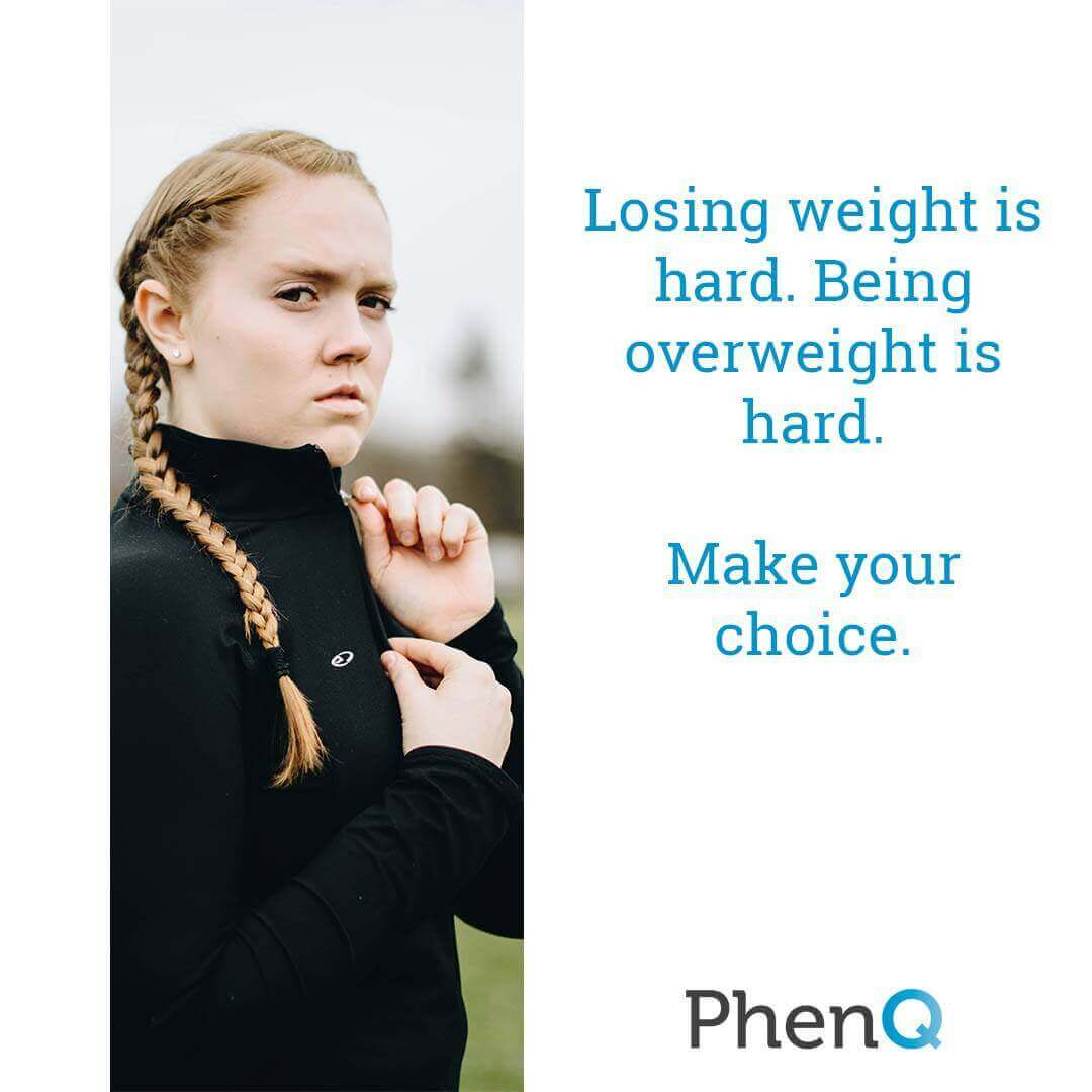 Weight loss quote - Losing weight is hard. Being overweight is hard. Make your choice.