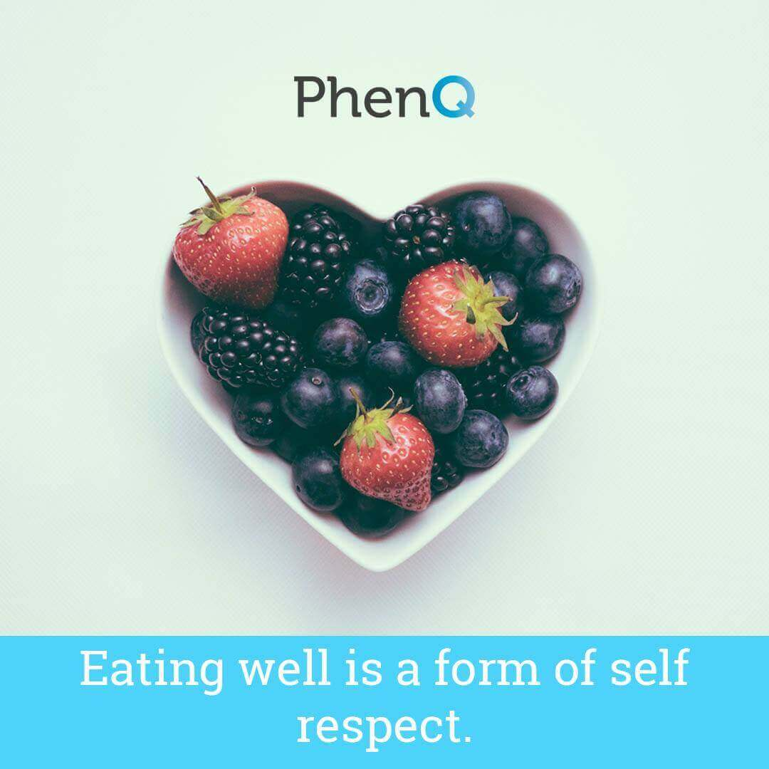 Weight loss quote - Eating well is a form of self respect.