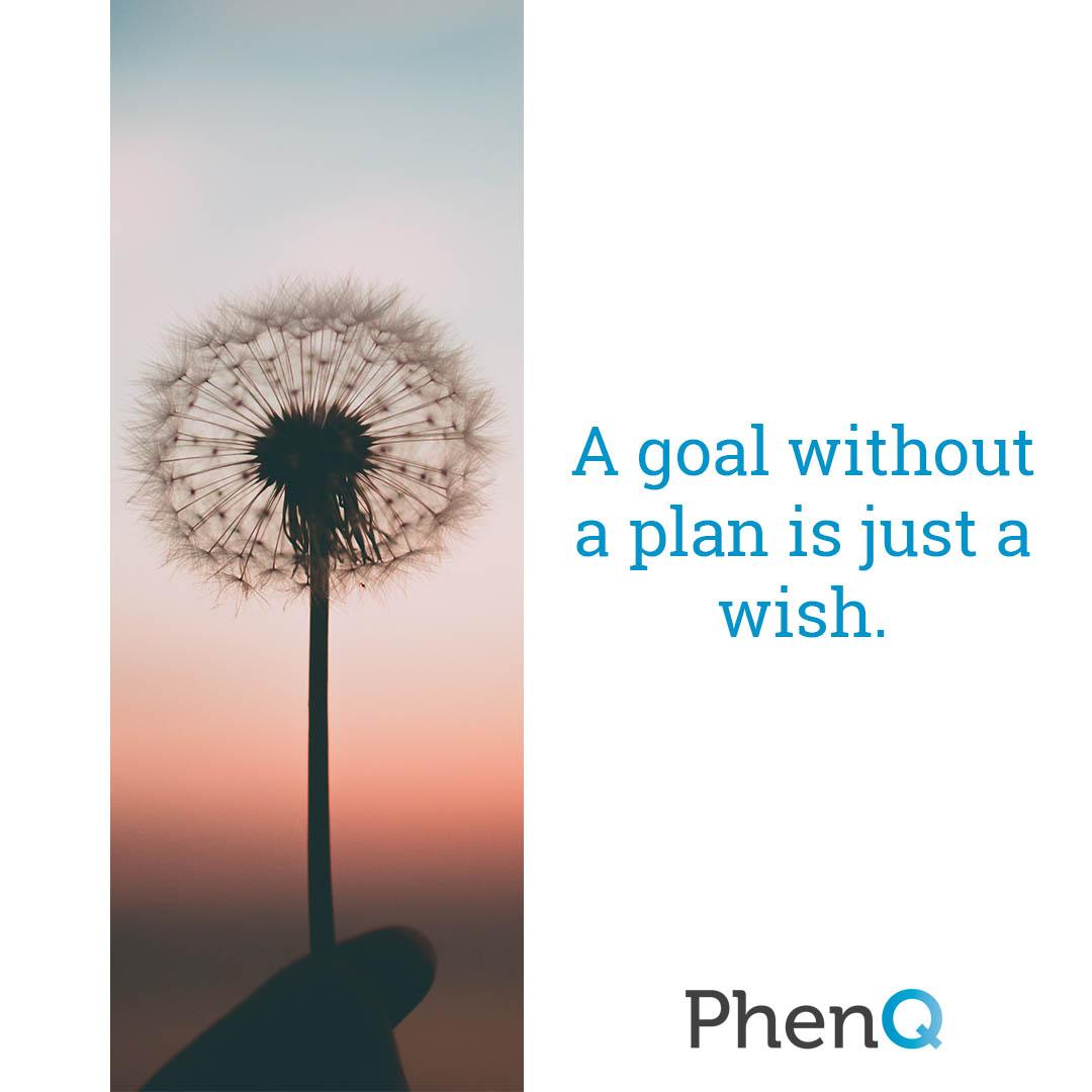 Weight loss quote - A goal without a plan is just a wish.
