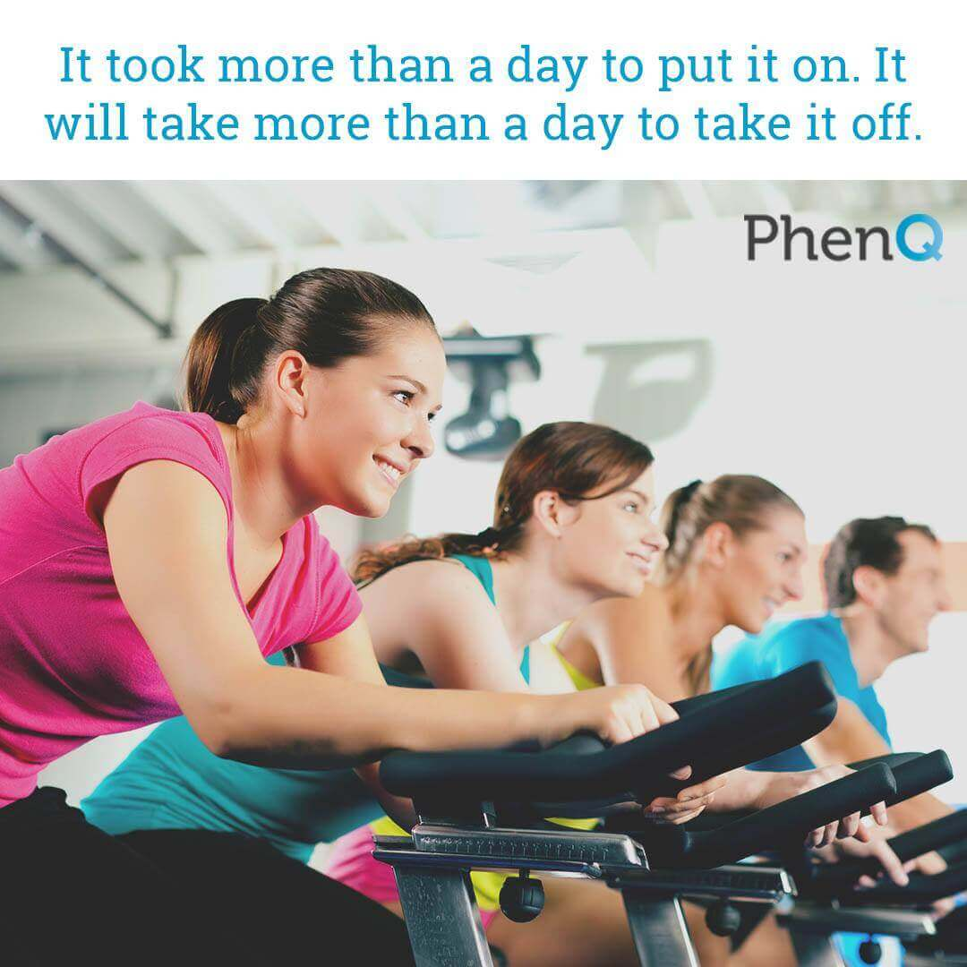 Weight loss quotes - It took more than a day to put it on. It will take more than a day to take it off.