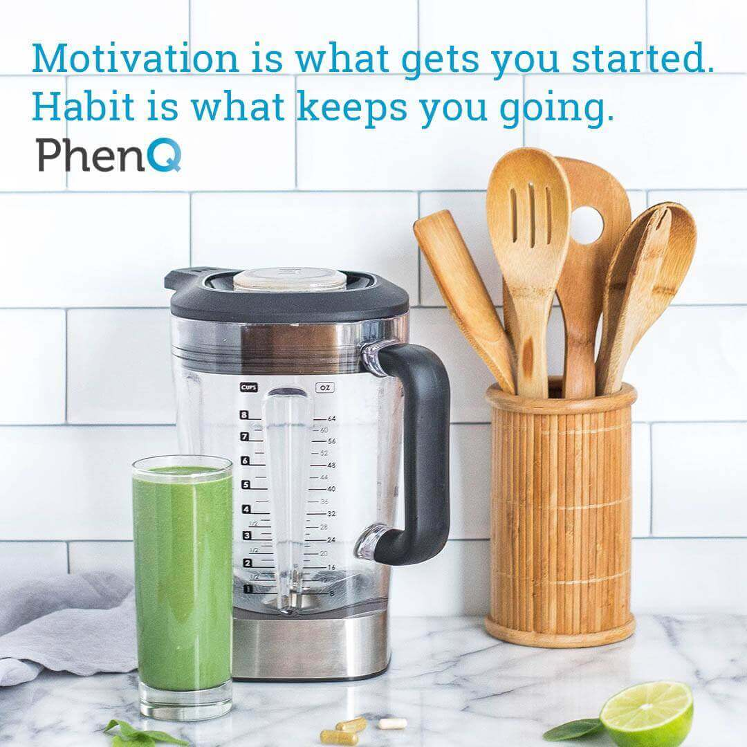 Weight loss tip - Motivation is what gets you started. Habit is what keeps you going.