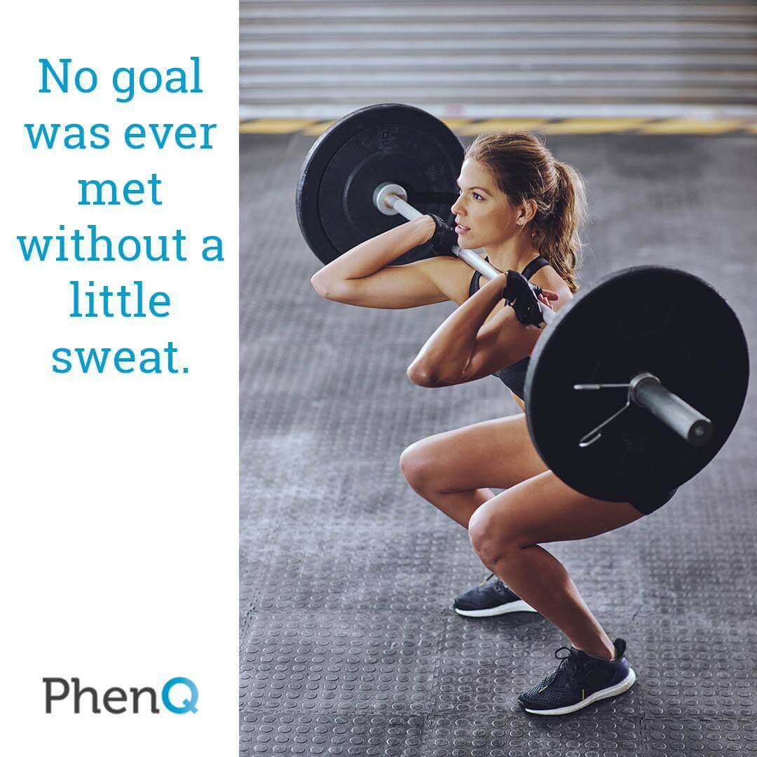 Weight loss quote - No goal was ever met without a little sweat.