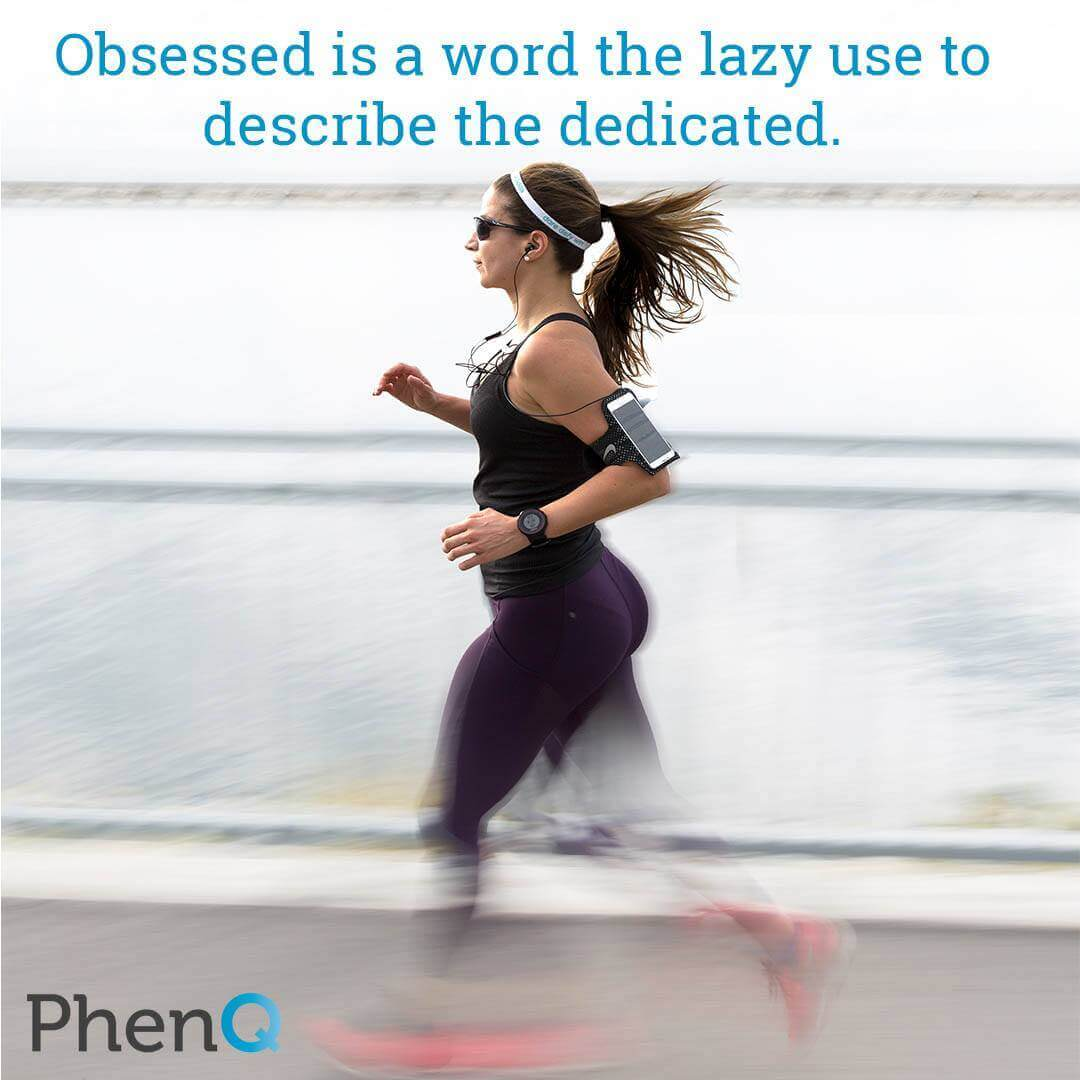 Weight loss tip - Obsessed is a word the lazy use to describe the dedicated.