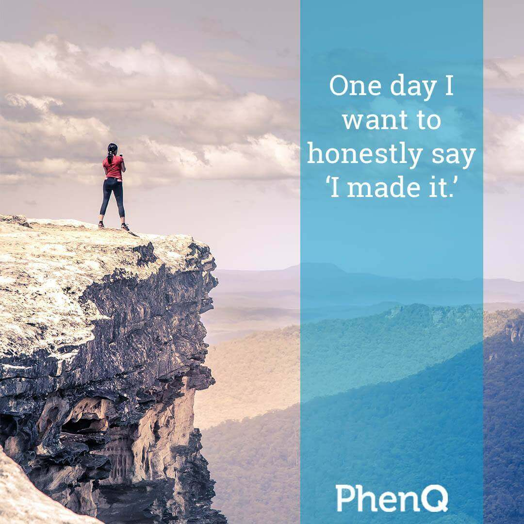 Weight loss quote - One day I want to honestly say I made it.