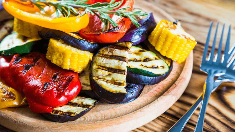 Simple weight loss tips - Consider alternatives to frying. Image of roasted veg.
