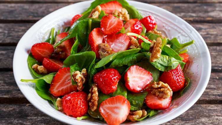 strawberry salad bowl
