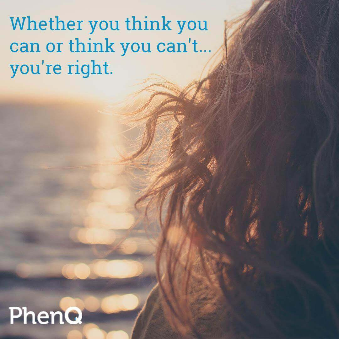 Weight loss quote - Whether you think you can or think you can't, you're right.