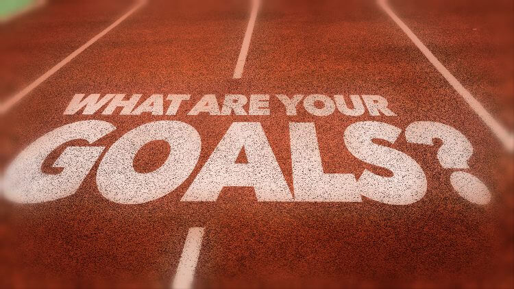 What are your goals written on running track