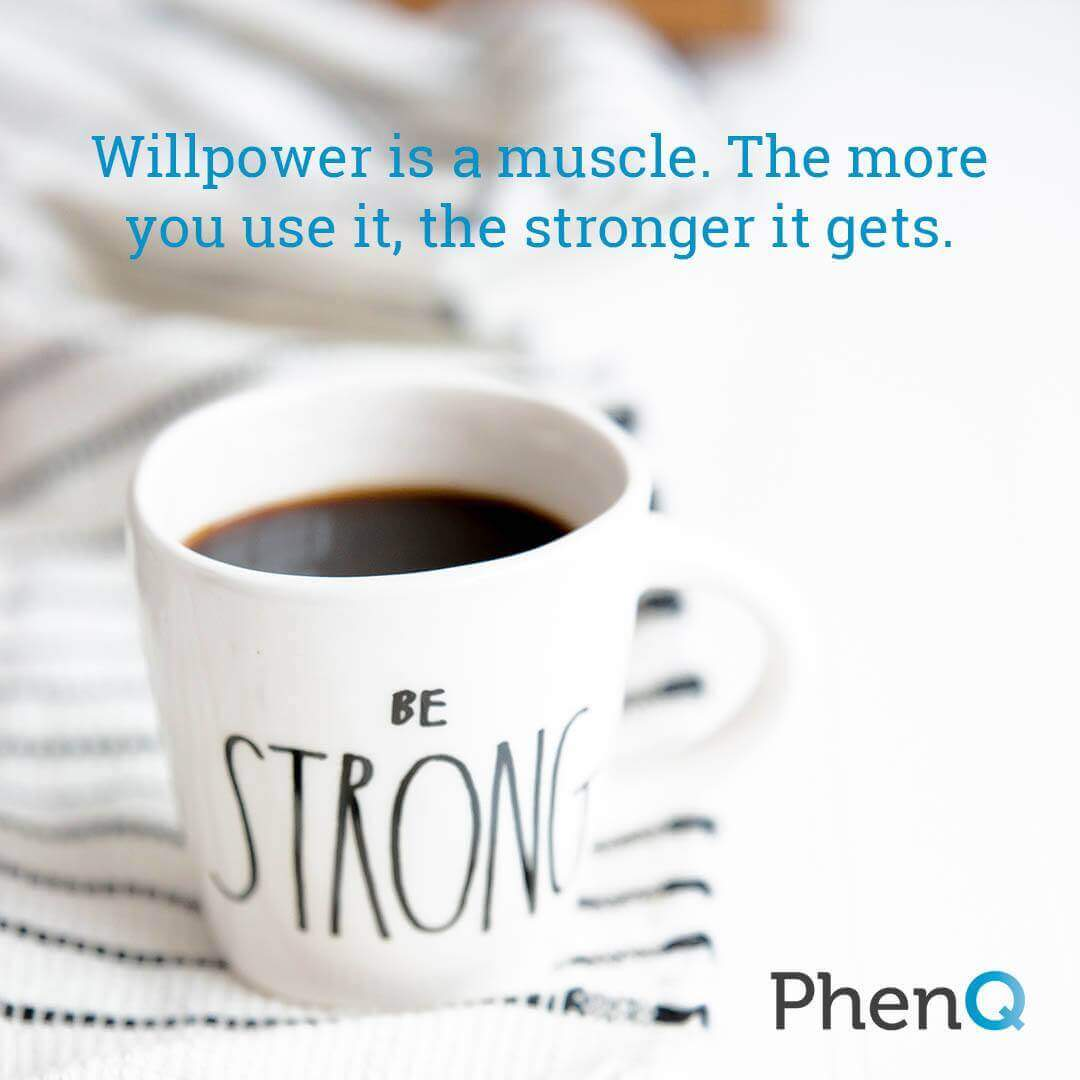 Weight loss quote - Willpower is a muscle. The more you use it, the stronger it gets.
