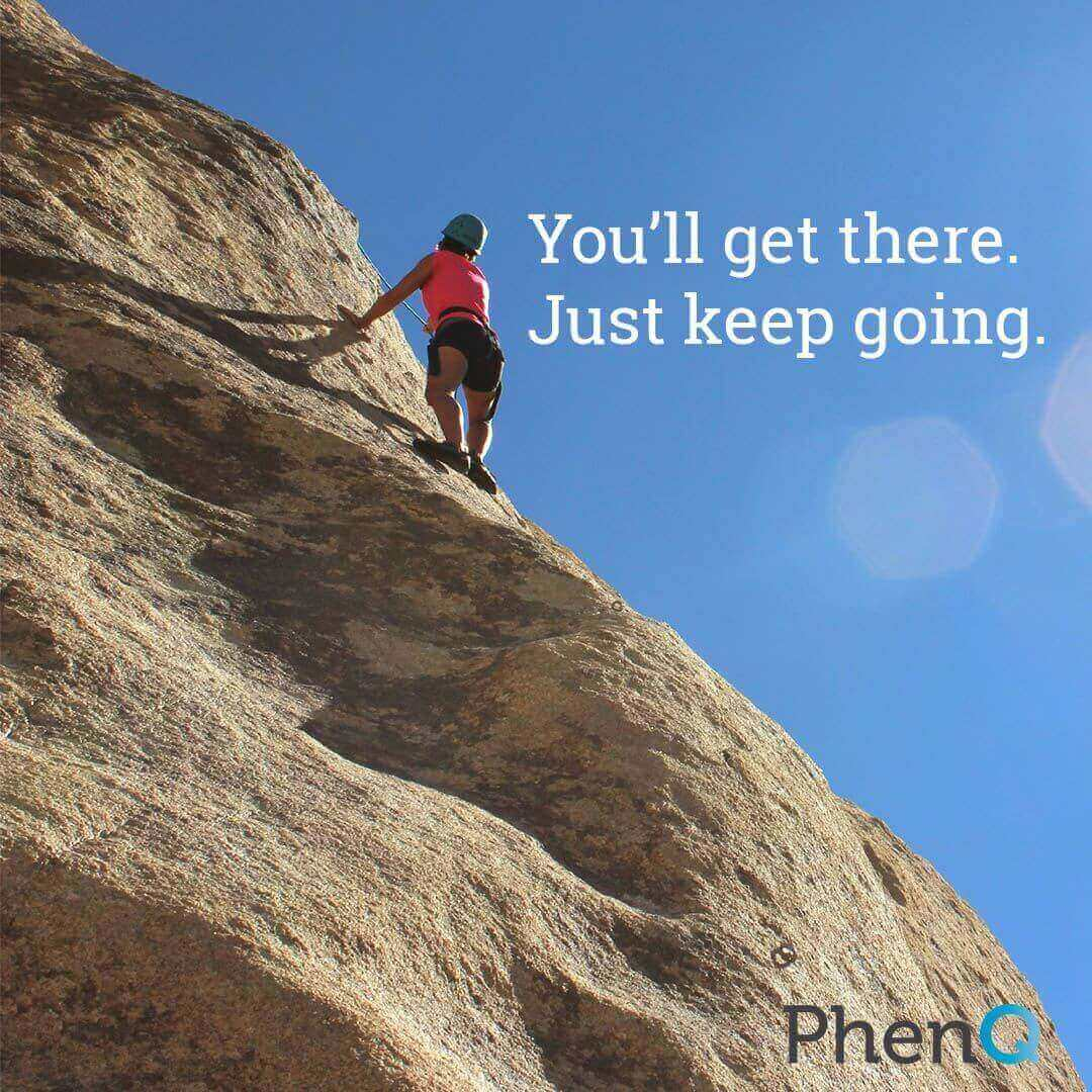 Weight loss tip - You'll get there. Just keep going.