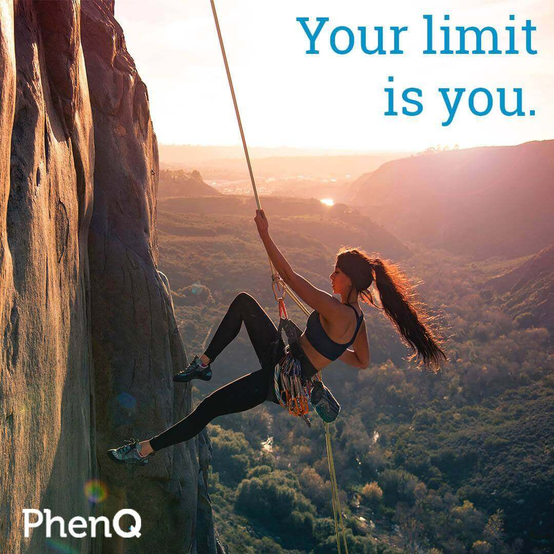 Weight loss quote - Your limit is you.