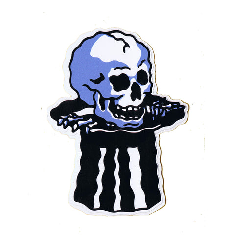 Pop Up Skull Sticker