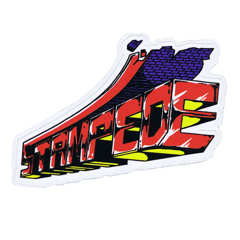 Stampede Block Sticker
