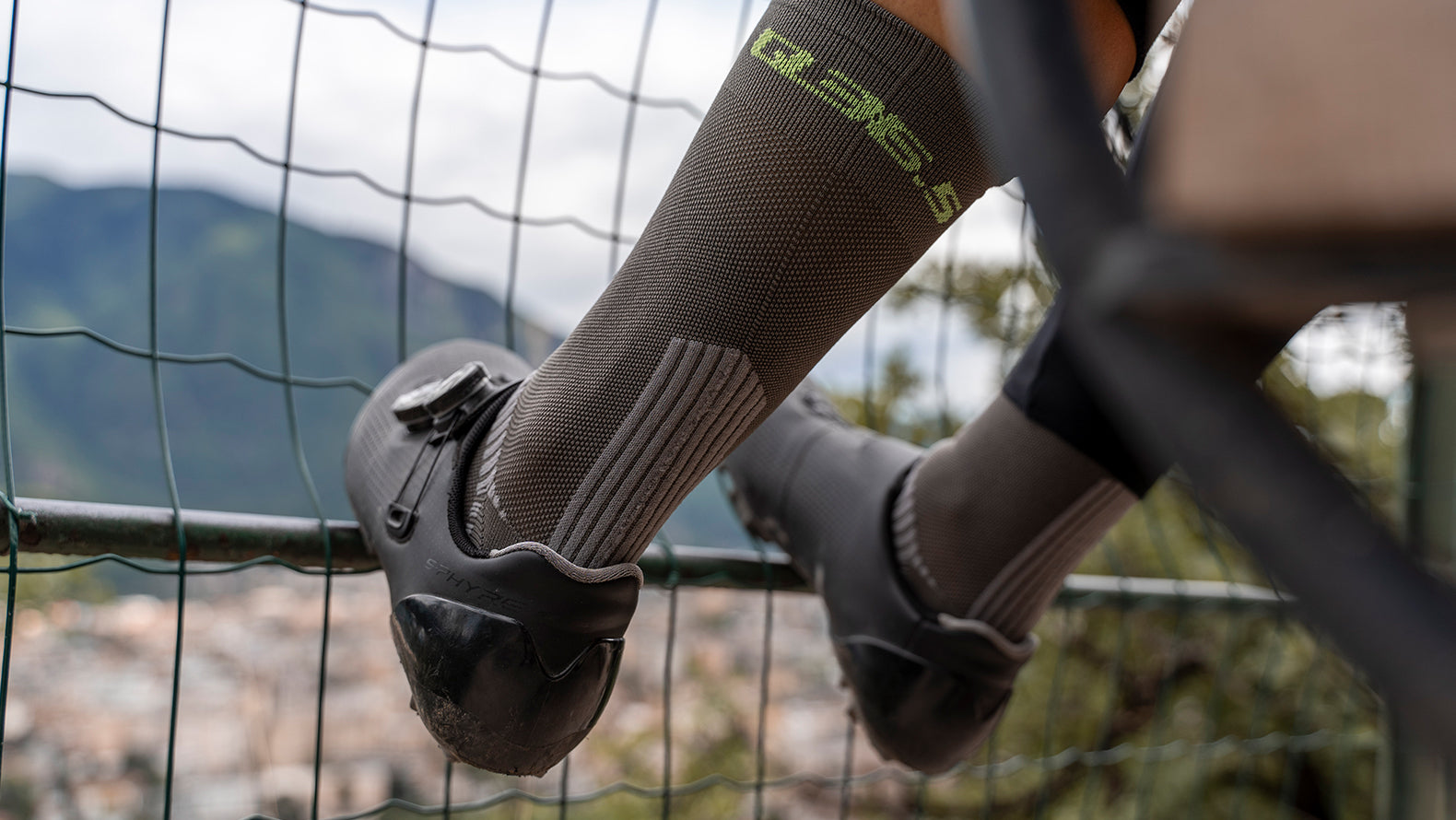Q36.5 Adventure Insulation Cycling Socks for riding in mild weather conditions.