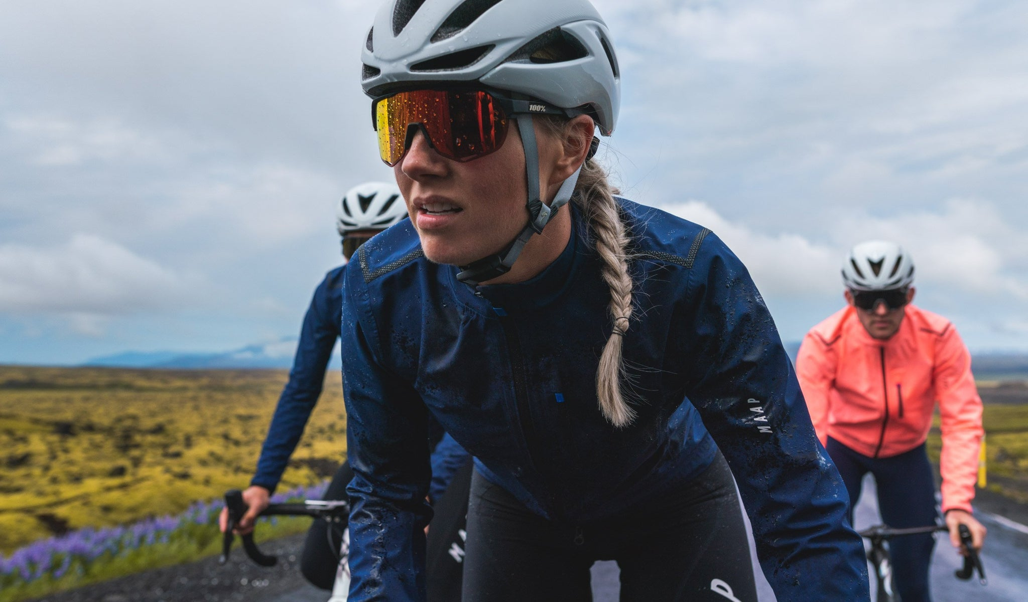 MAAP Women's Ascend Pro Rain Jacket for waterproof protection when riding in wet weather.