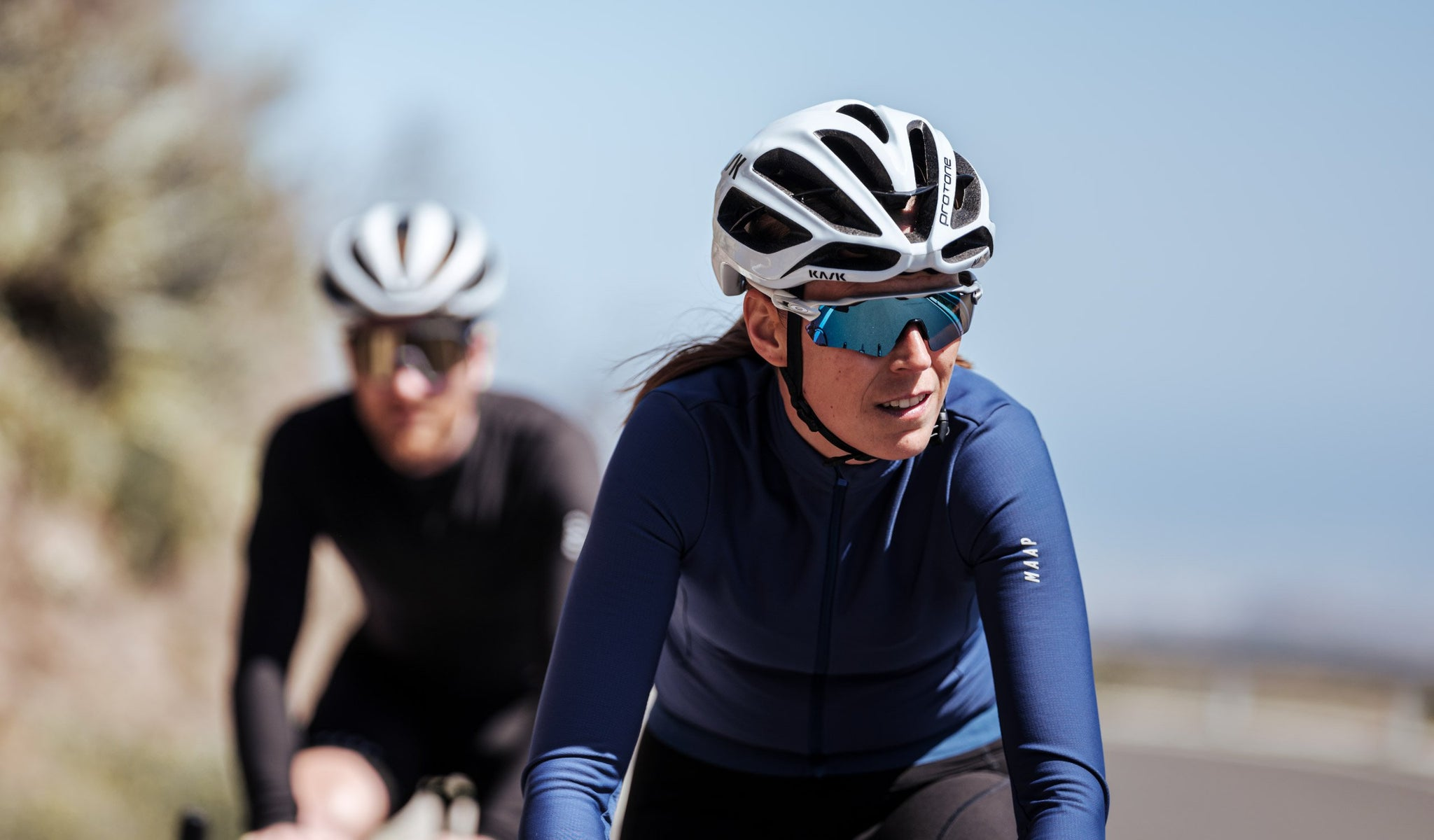 MAAP Women's Force Pro Long Sleeve Cycling Jersey for riding in cool to cold weather conditions.
