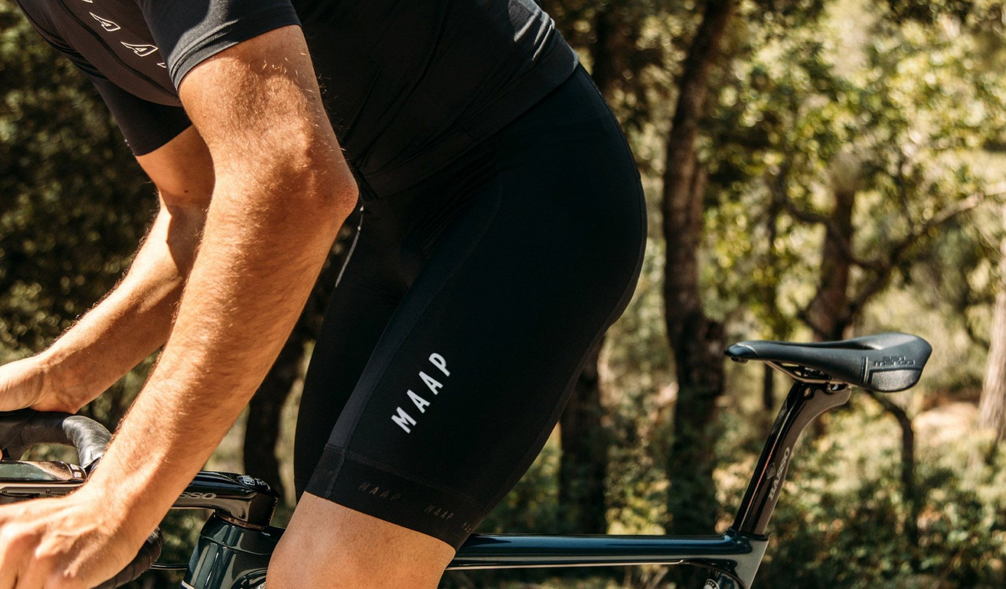 MAAP Training Cycling Bib Shorts in Black for everyday riding.
