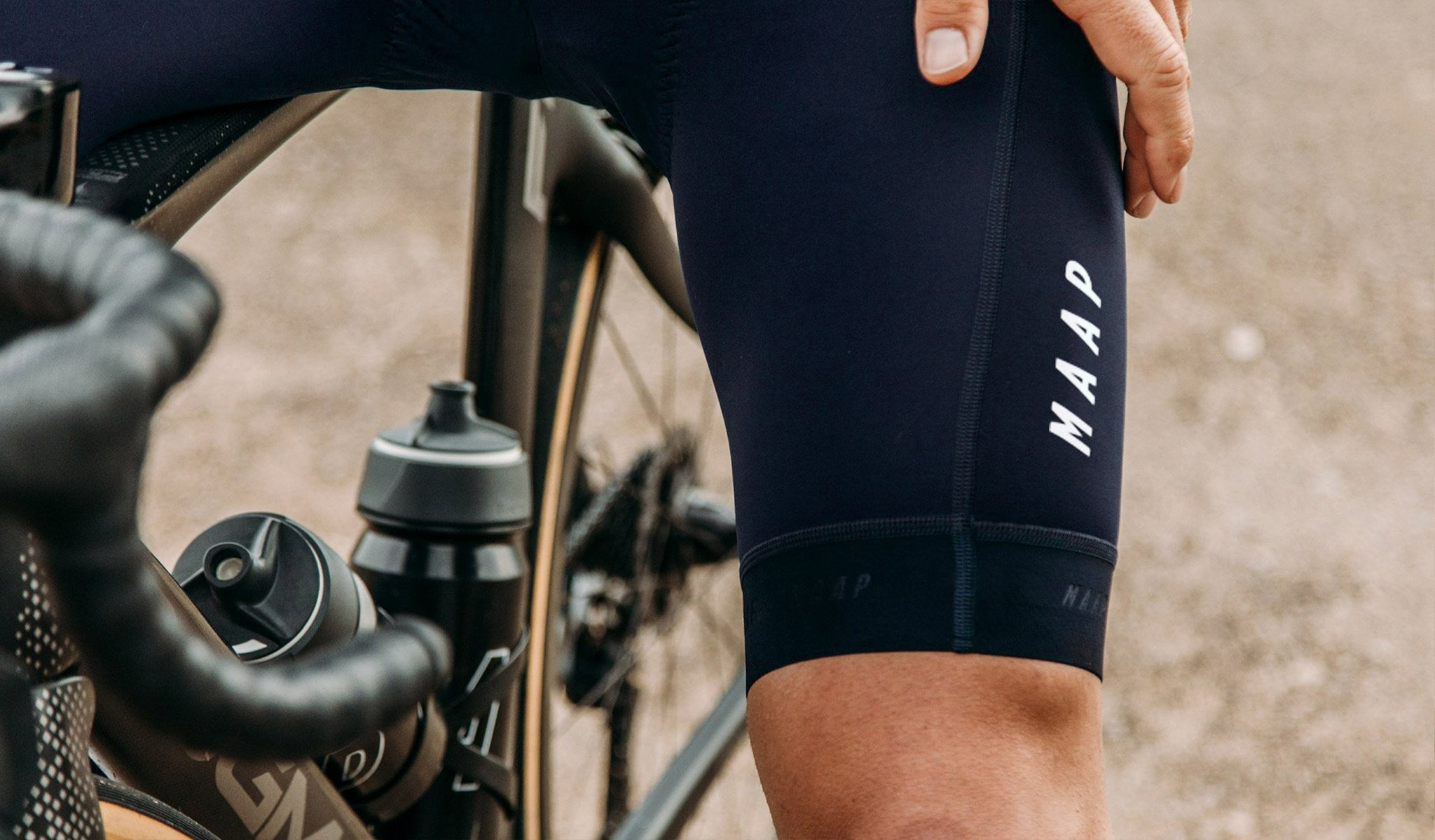 MAAP Training Cycling Bib Shorts in Navy/White for everyday riding.