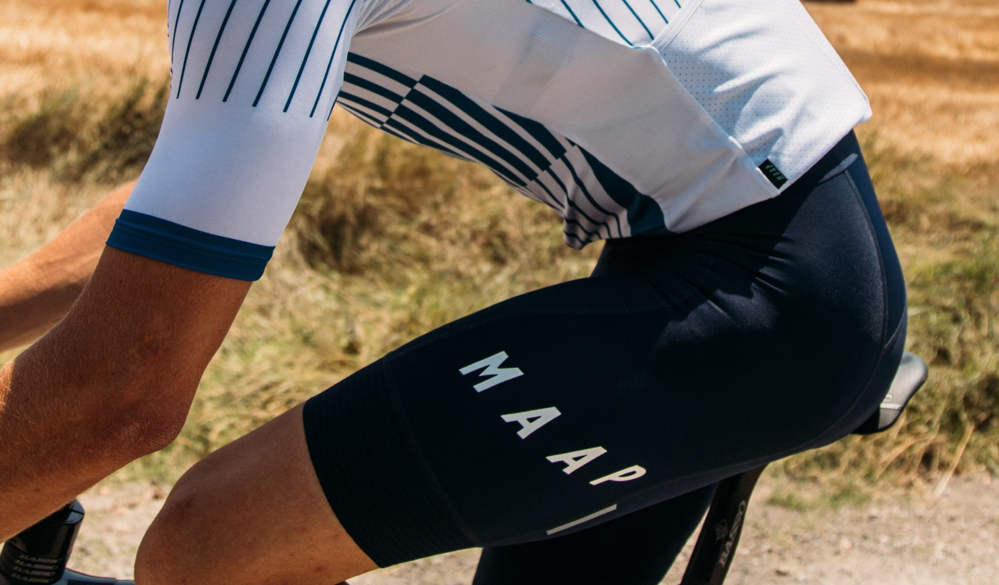 MAAP Team Cycling Bib Shorts 3.0 in Navy for riding in warm weather conditions.