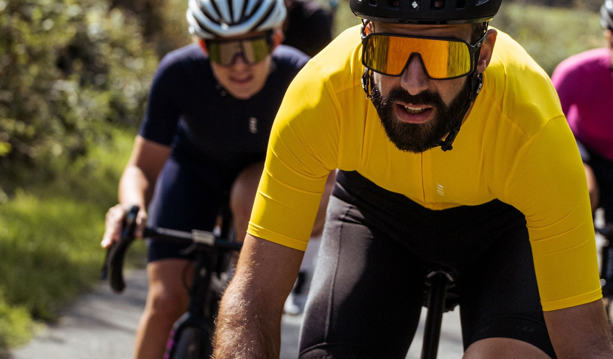 MAAP Training Short Sleeve Cycling Jersey in Solar Yellow for everyday riding.