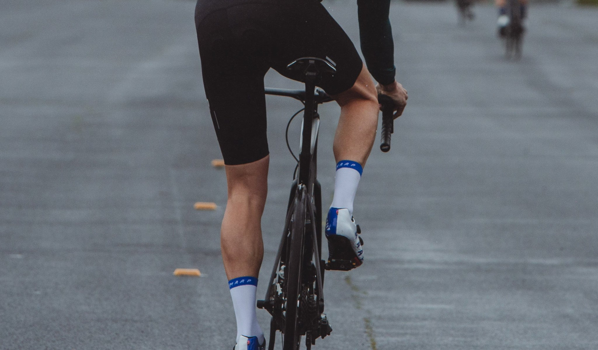 MAAP Pro Air Cycling Socks in White for riding in warm conditions.