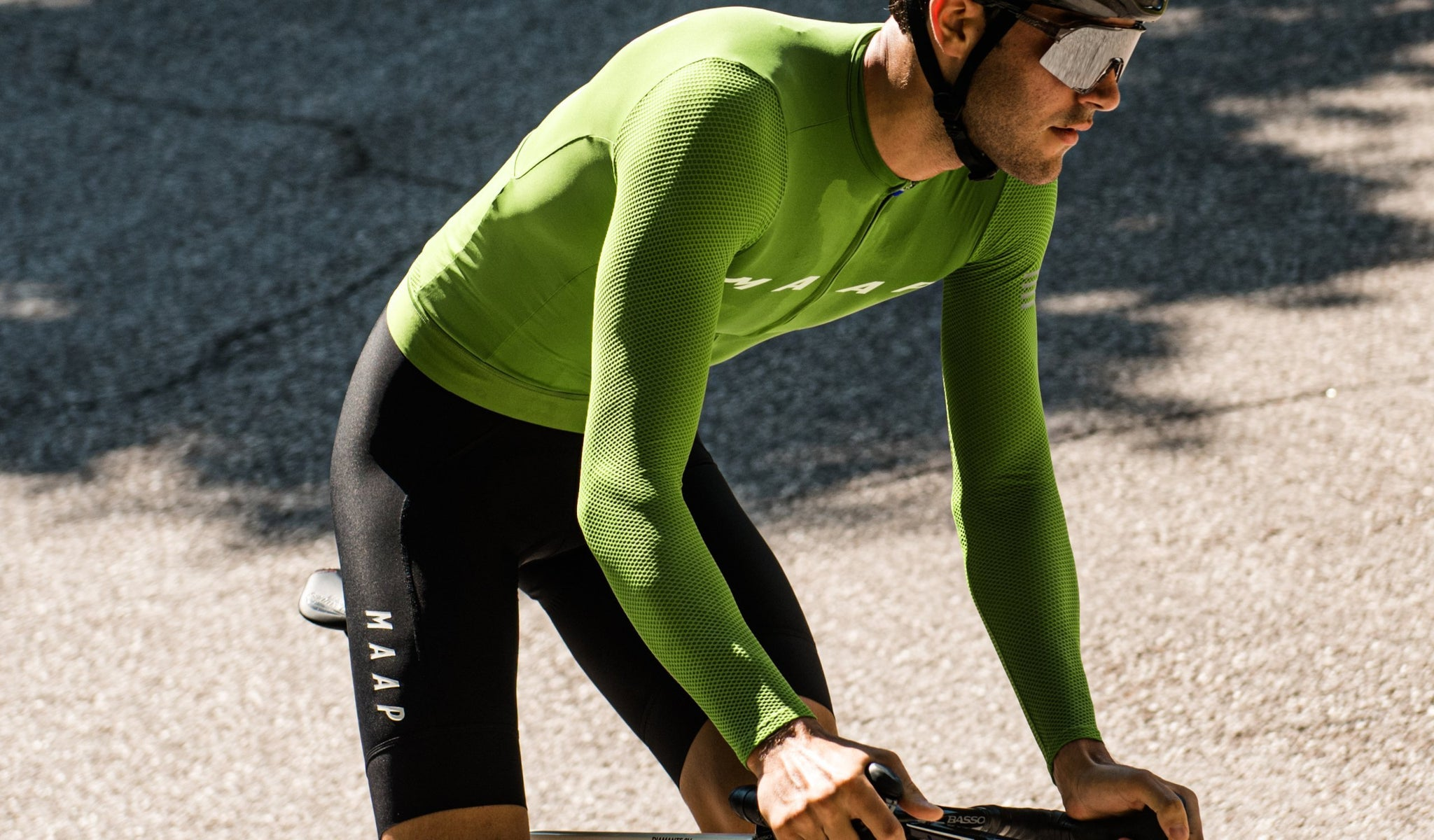 MAAP Evade Pro Base LS Cycling Jersey in Wasabi.
