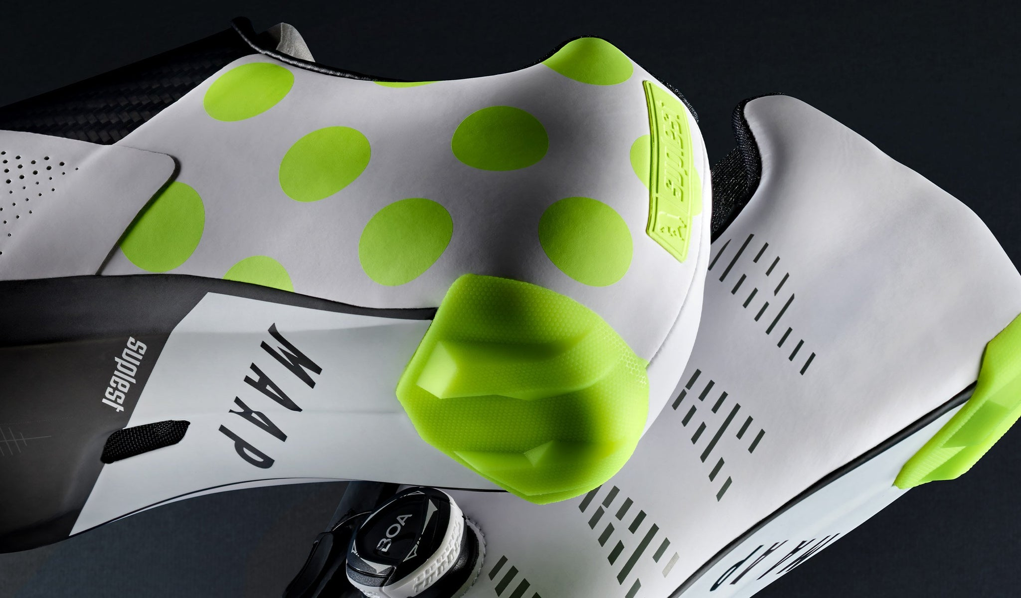 MAAP x Suplest Edge+ Pro Road Cycling Shoe in White.