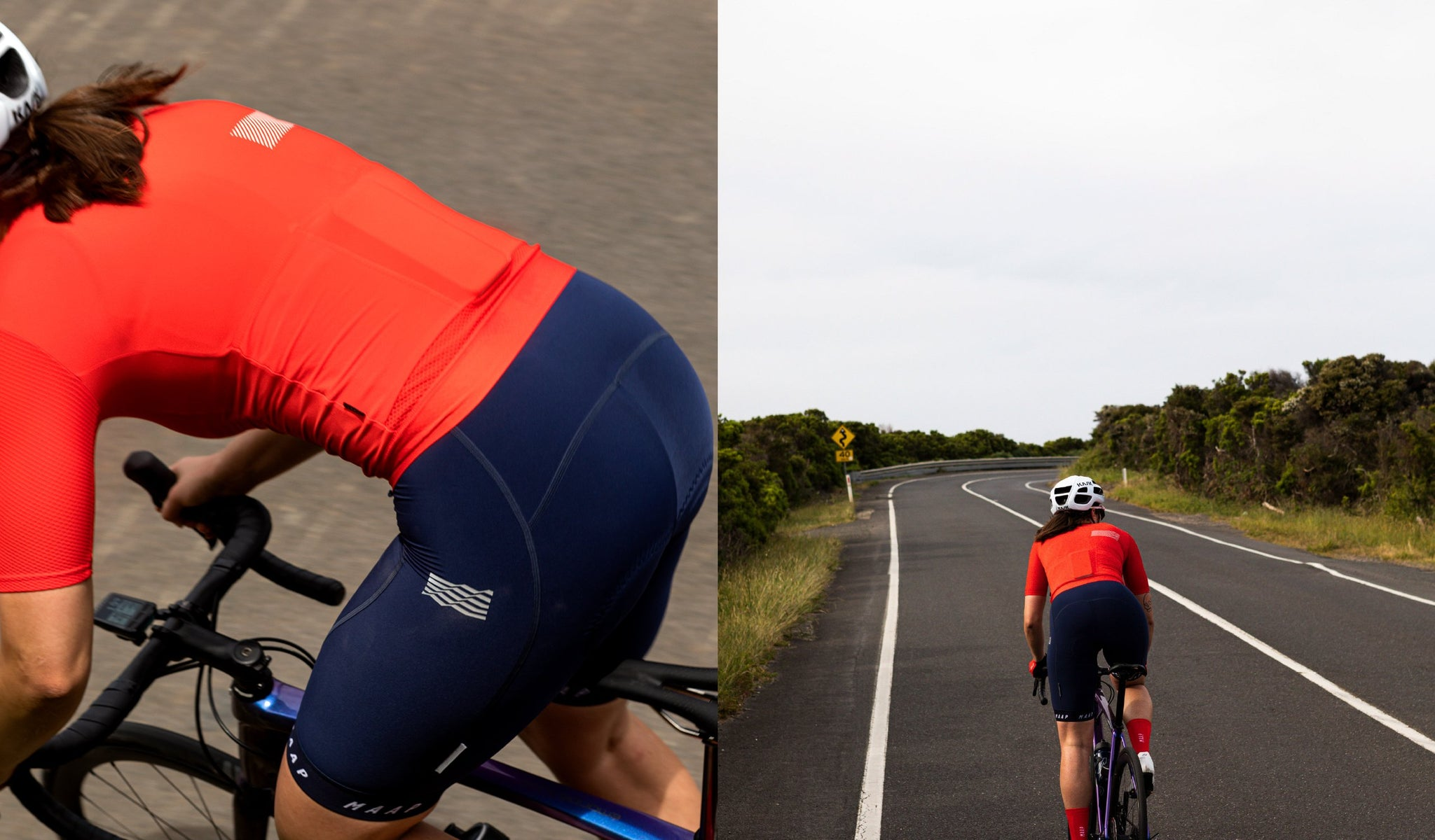 MAAP Women's Echo Pro Base Cycling Jersey in Chilli for riding for warm weather conditions.