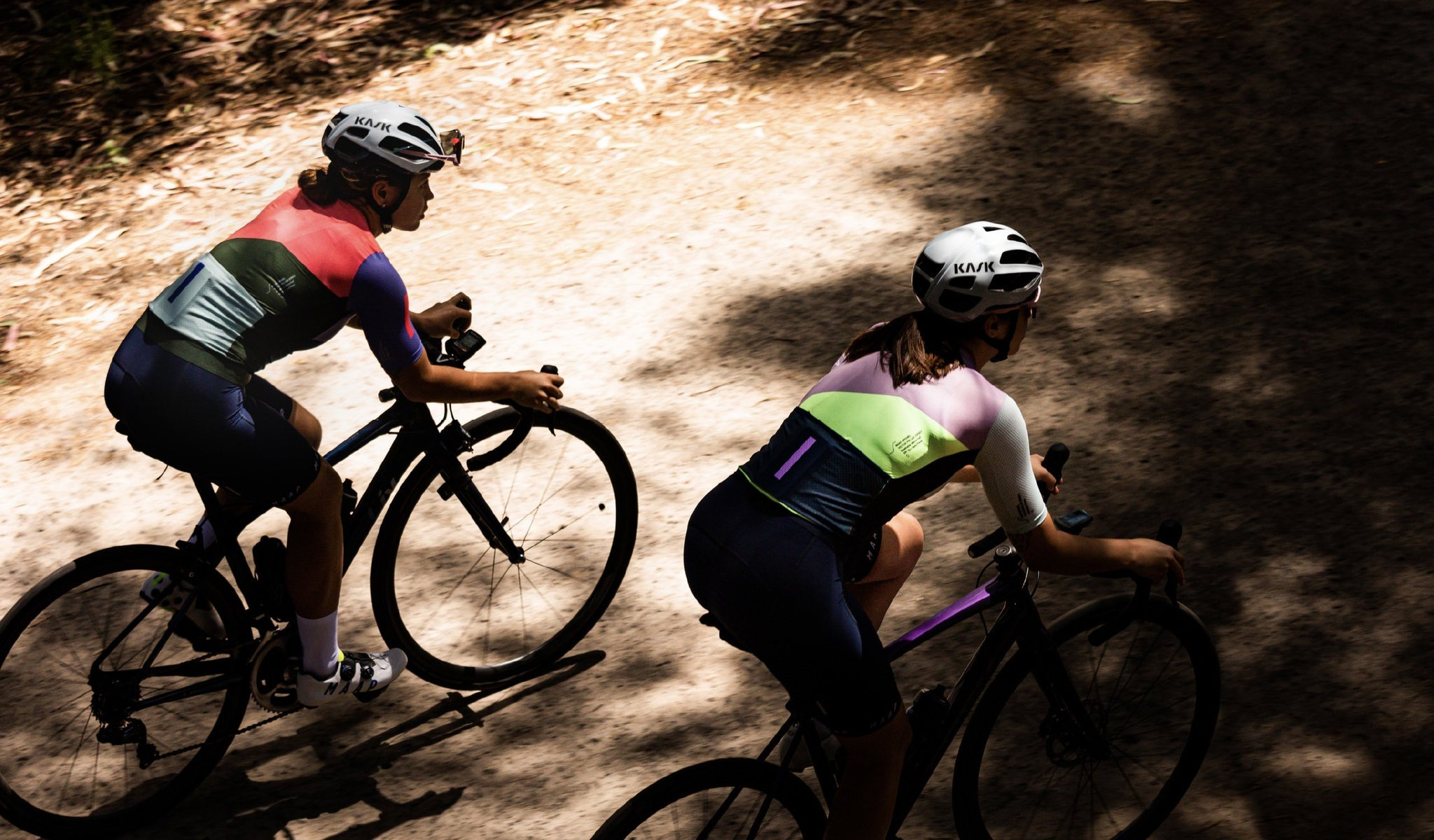 MAAP Women's Vector Pro Air Jersey 2.0 in Light Haze for riding in warm weather conditions.