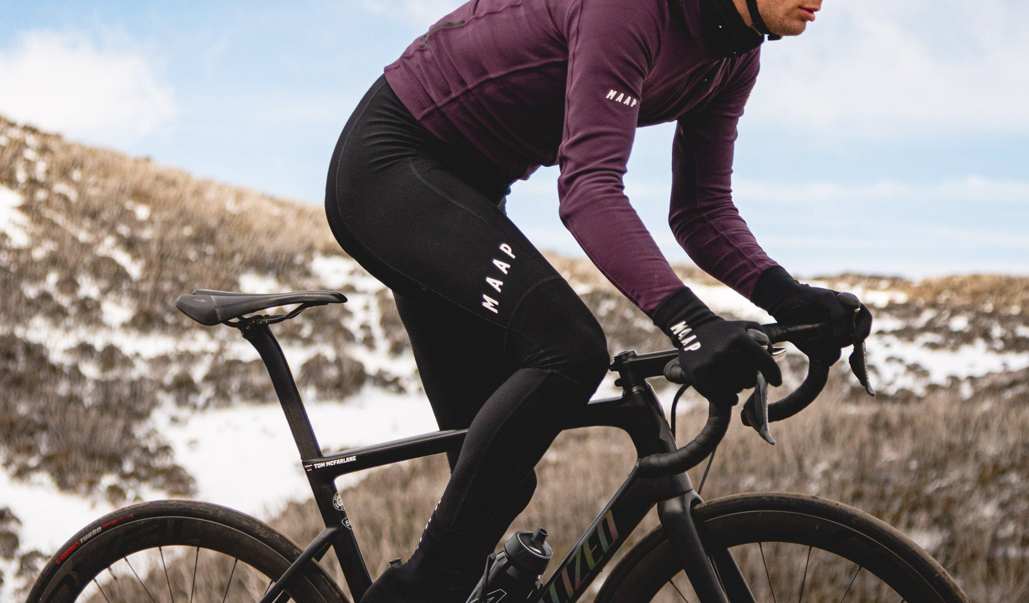 Winter cycling bib tights for the coldest conditions.