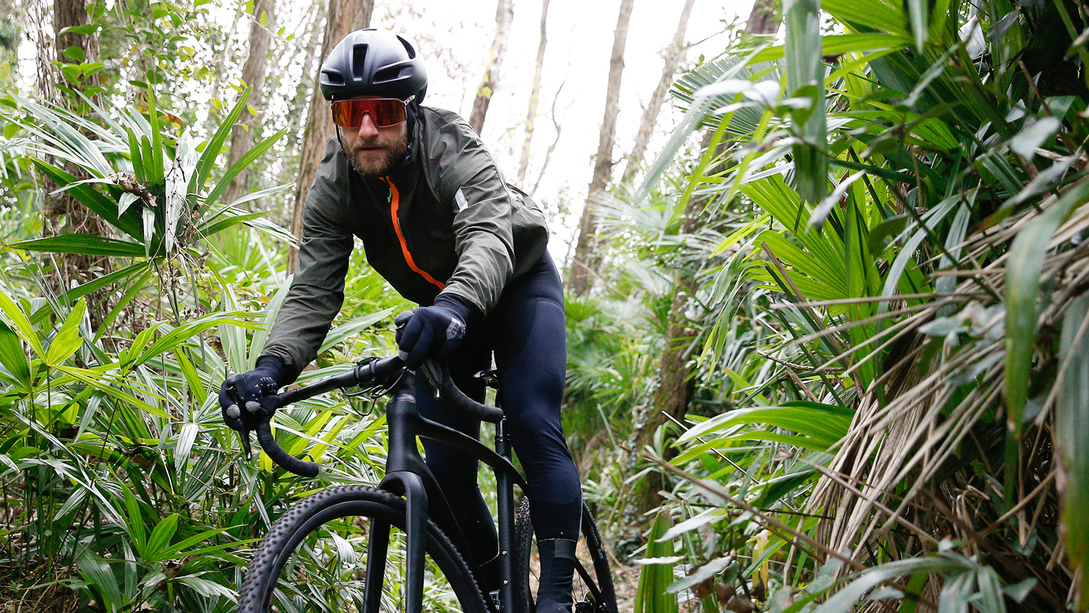 Q36.5 Adventure Winter Cycling Jacket for riding in cold weather conditions.