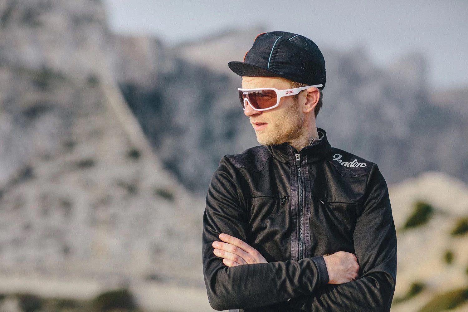 Winter cycling jacket with merino liner