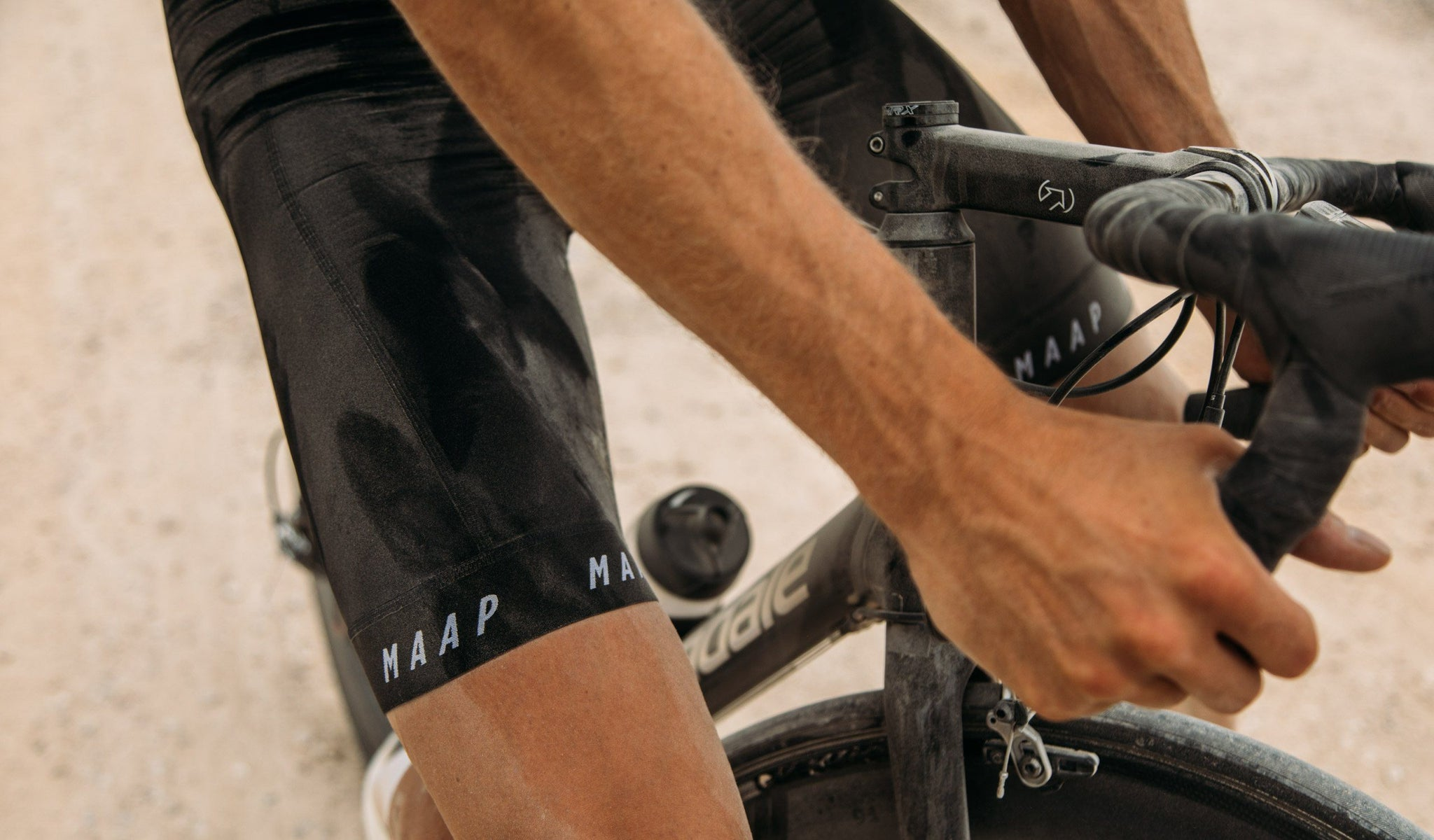 MAAP Pro Bib Shorts in Black for everyday riding.