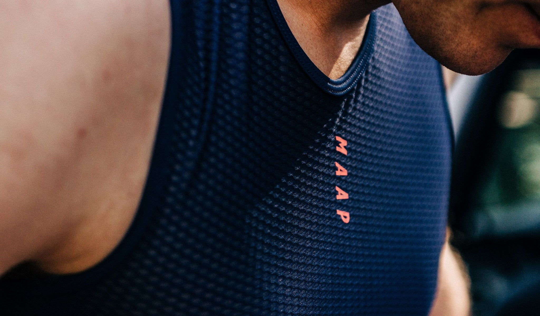 MAAP Team Cycling Base Layer in Navy for riding in warm weather conditions.