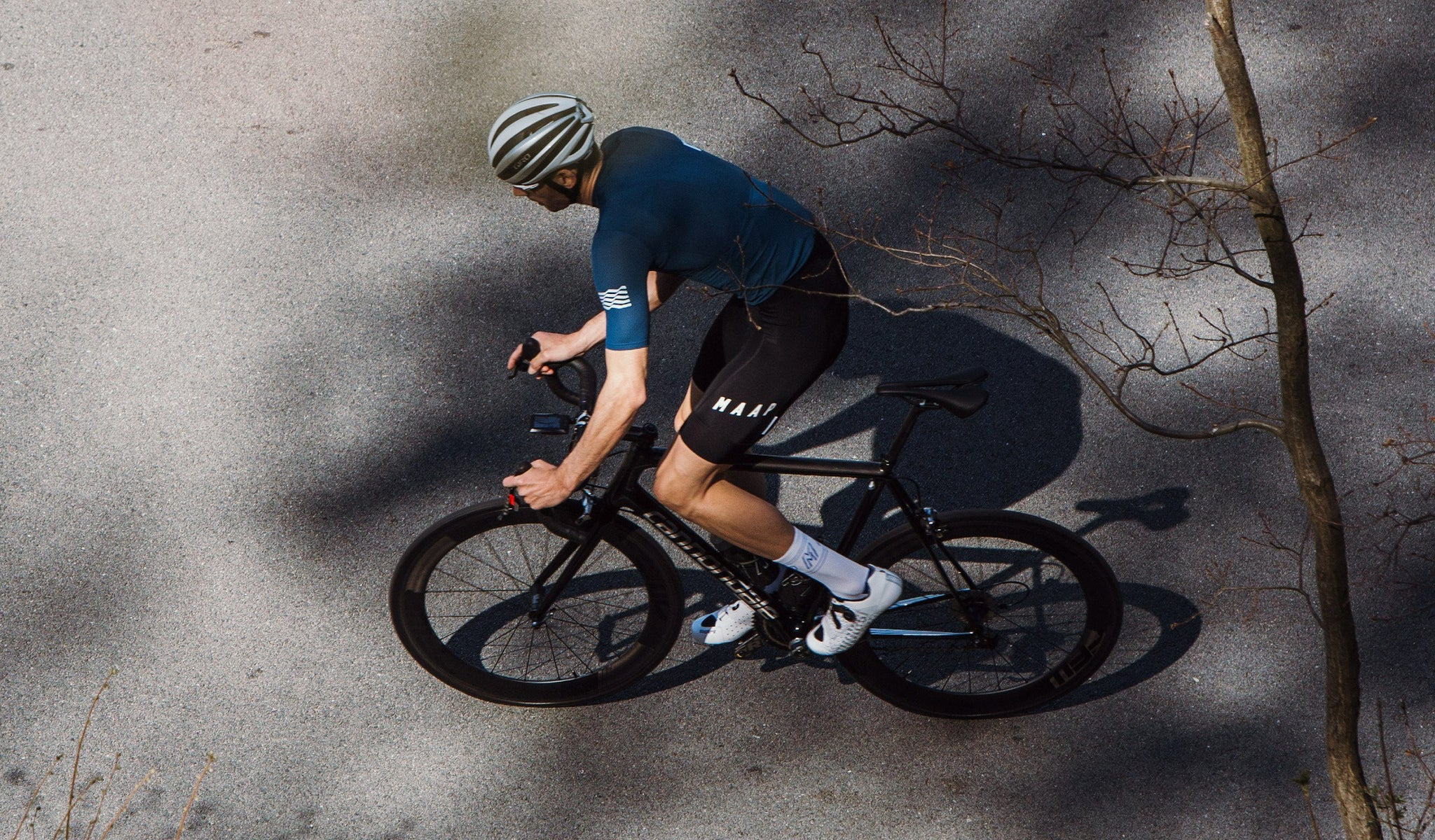 MAAP Team Cycling Bib Shorts 3.0 in Black for riding in warm weather conditions.