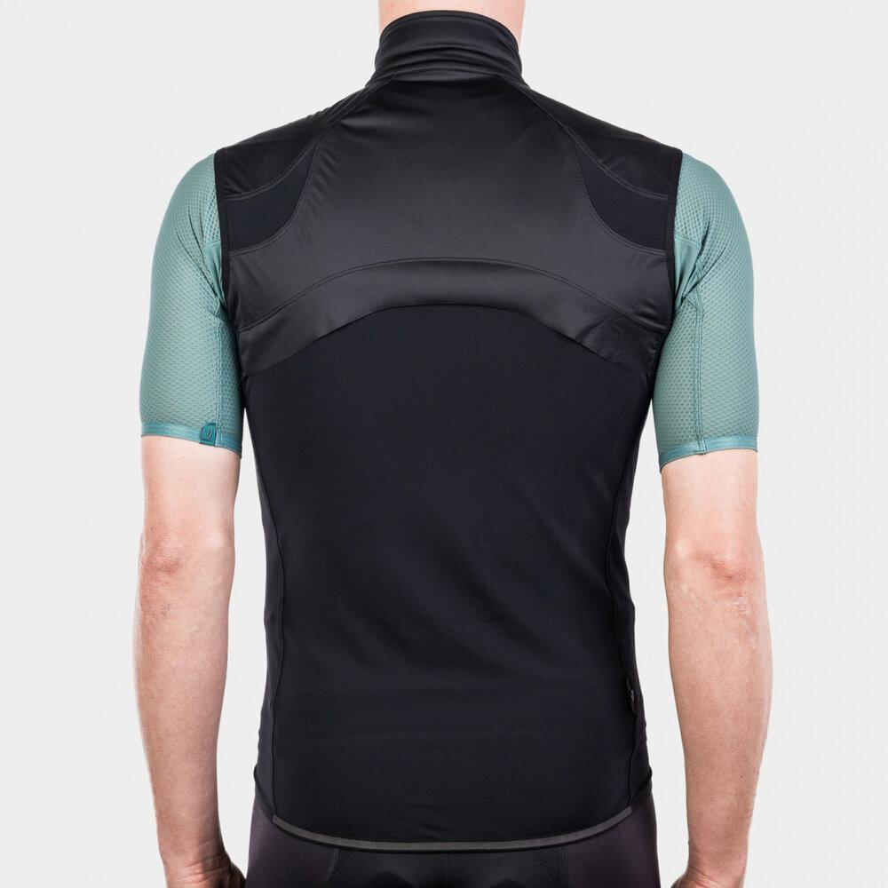 Echelon Wind Vest - Black Cycling Vest Isadore