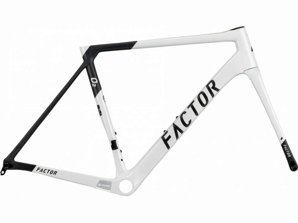 "Factor O2 - Pearl White Road Bicycle FACTOR Frameset (includes Frame, Fork, CeramicSpeed BB & Headset) 49 (Recommended rider height 5'0"" - 5'3"")"