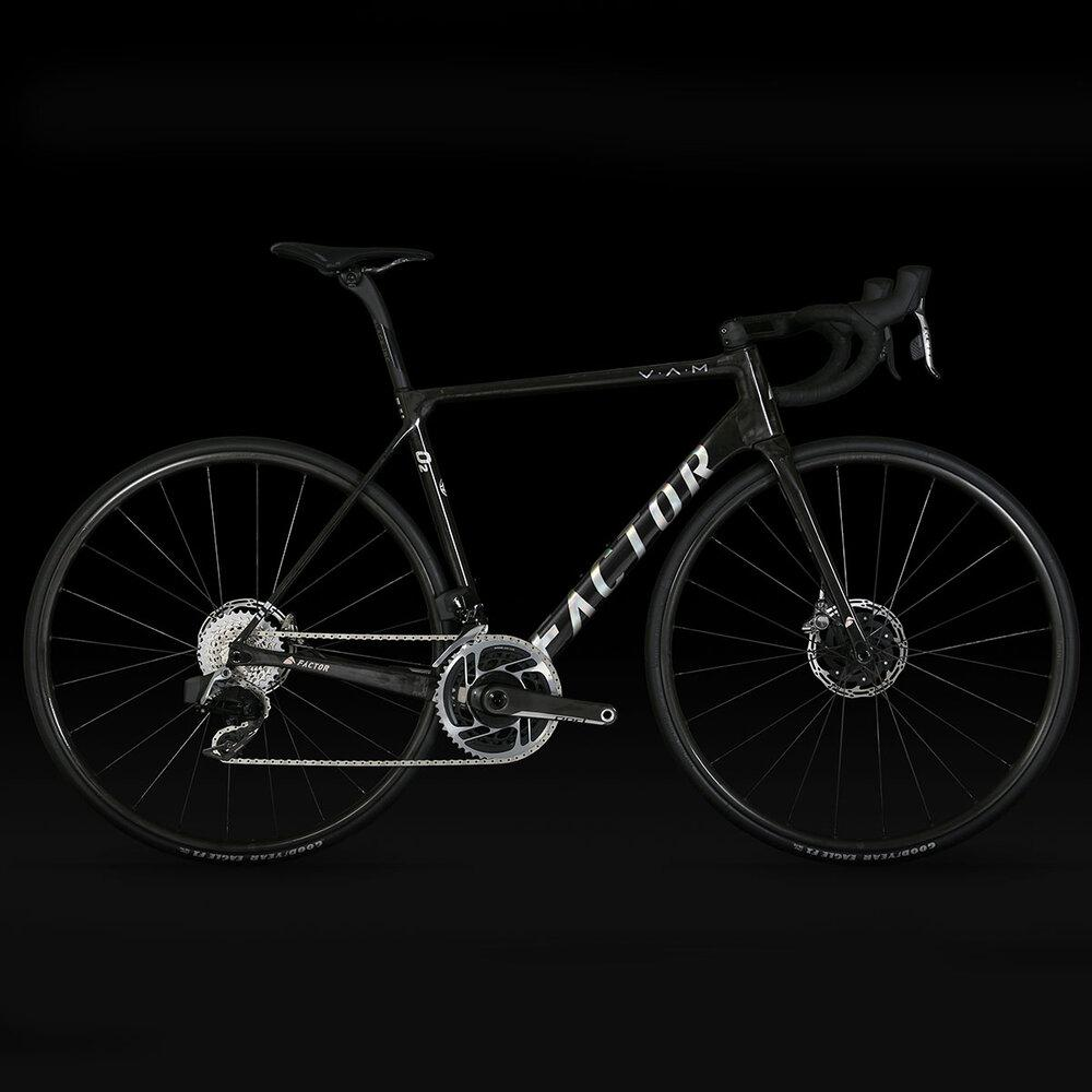 Factor O2 V.A.M. - Gloss Carbon Chrome Road Bicycle FACTOR