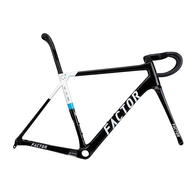 "Factor O2 V.A.M. - Israel Startup Nation Road Bicycle FACTOR Frameset (includes barstem, seatpost & CeramicSpeed BB & Headset) 49 (Recommended rider height 5'0"" - 5'3"")"