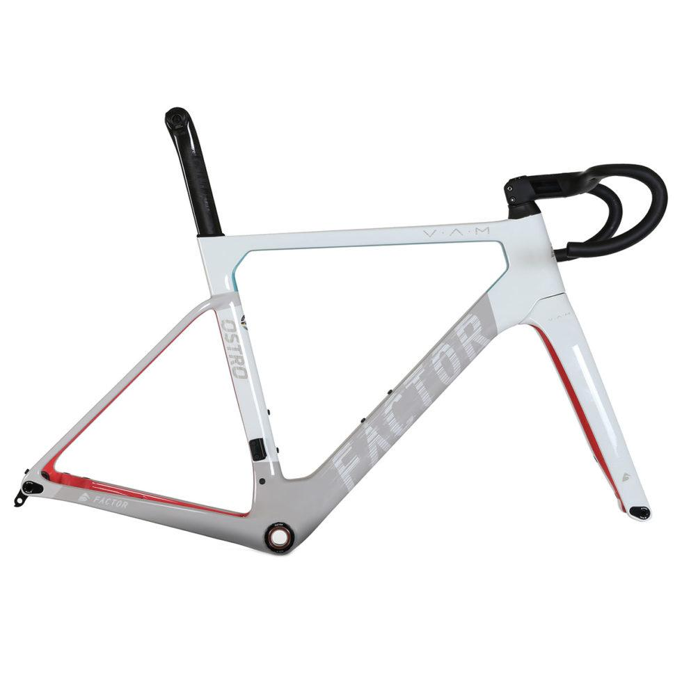 "Factor Ostro - Soho Mix Road Bicycle FACTOR Frameset (includes Frame, Fork, Barstem, Seatpost & CeramicSpeed BB & Headset) 49 (Recommended rider height 5'0"" - 5'3"")"