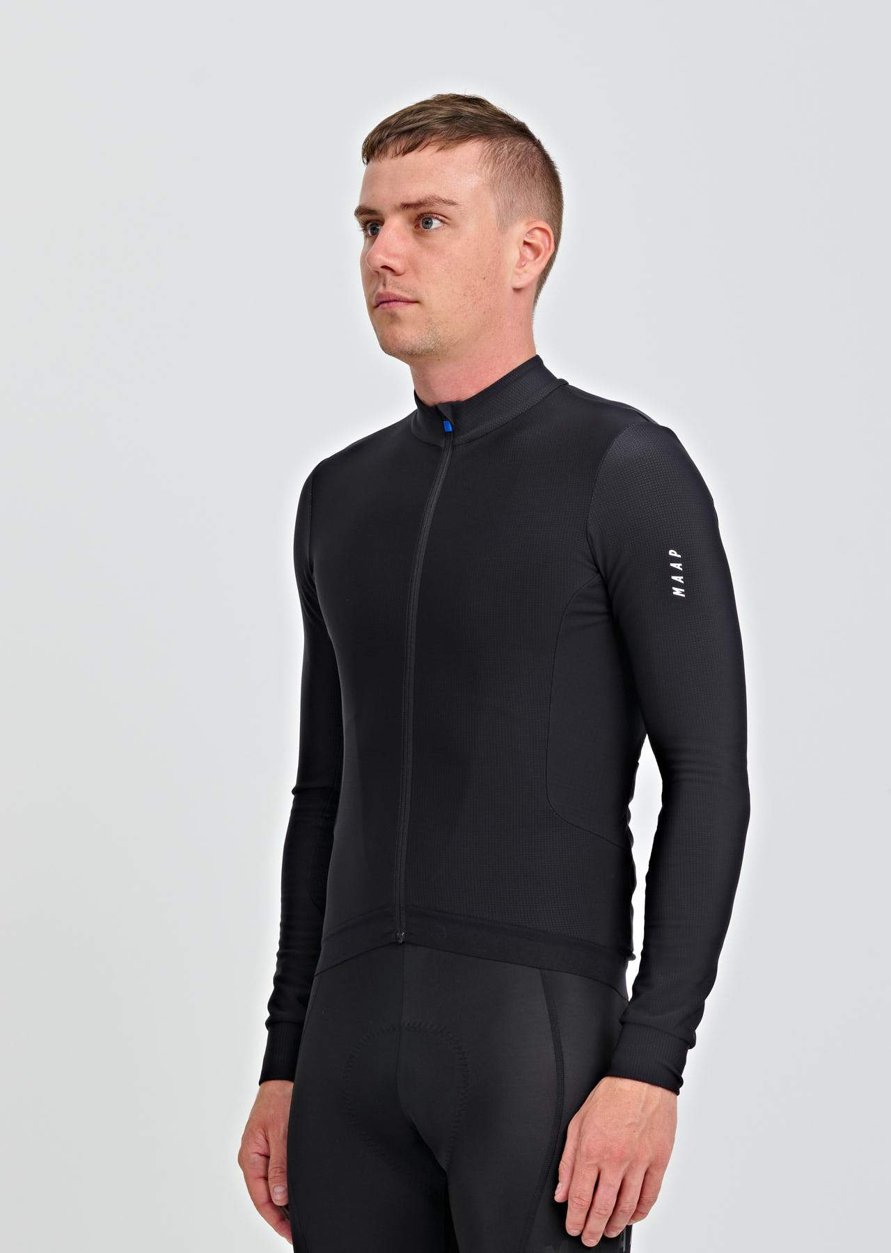 Force Pro LS Jersey - Black Cycling Jersey MAAP