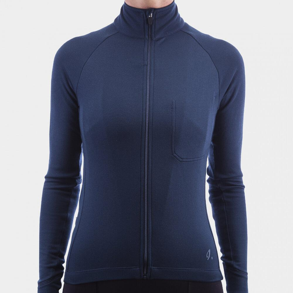 Isadore Women's Long Sleeve Jersey - Midnight Navy Cycling Jersey Isadore XXS
