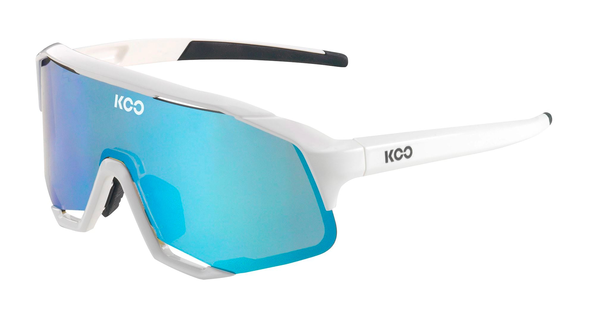 Koo Demos Sunglasses - White/Turqoise Sunglasses KOO