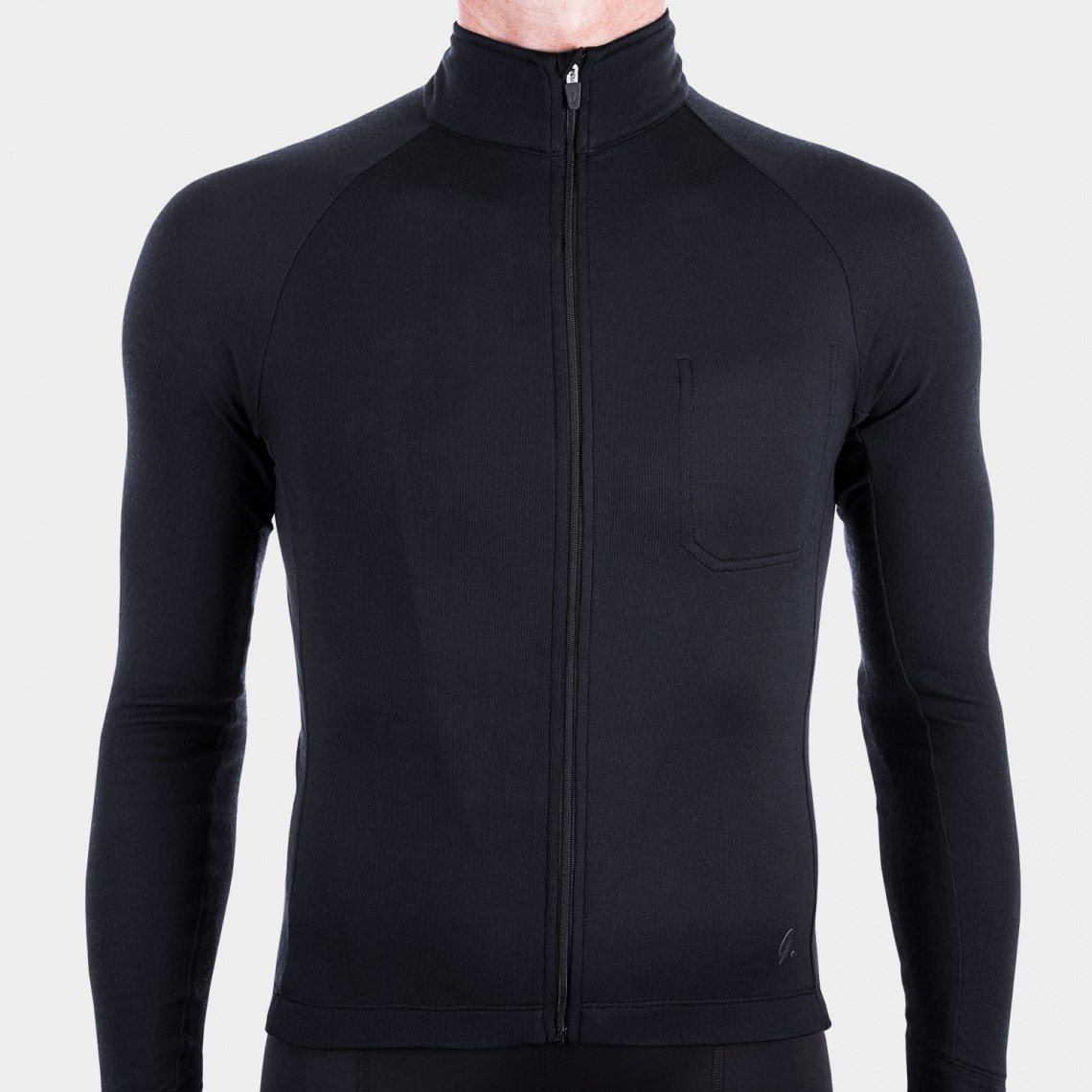 Long Sleeve Cycling Jersey - Anthracite Cycling Jersey Isadore XS
